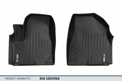 Maxliner 2015-2019 Fits Kia Sedona Floor Mats First Row Black A0203
