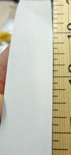"White High Gloss PVC edgebanding 1//4/"" x 120/"" preglued adhesive rolls 1//40/"" thick"