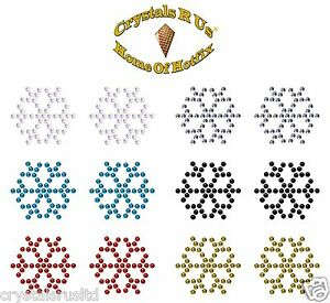 SNOWFLAKE-1-034-IRON-ON-DIAMANTE-CRYSTAL-BLING-Xmas-Christmas-card-making-transfers