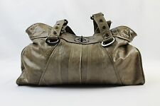 Treesje Tan Leather Double Handle Handbag Purse Shoulder Bag