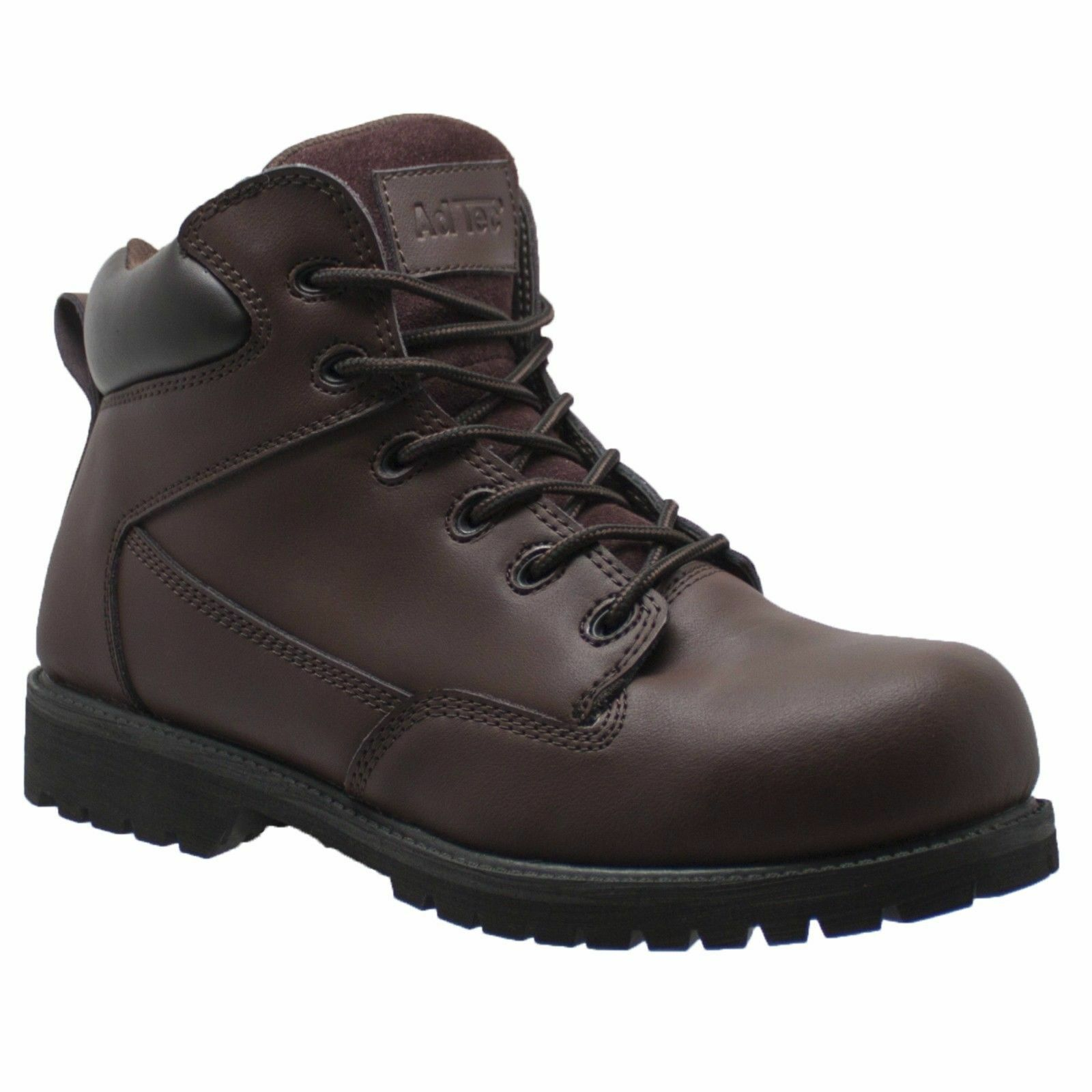 NEW MENS AD-TEC 6  STEEL TOE LEATHER WORK BOOTS   SHOES - U.S. 9.5 WIDE
