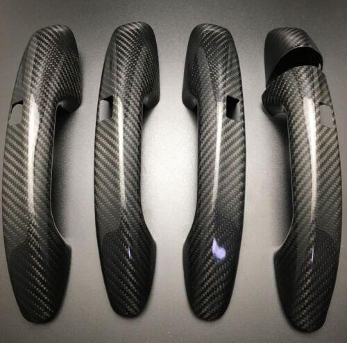 5Pcs Carbon Side Door Handle Cover Trim For Benz GLC Class W205 X253 4-Door LHD