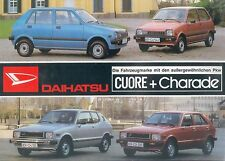 Daihatsu Cuore Charade Prospekt 2/81 brochure 1981 Autoprospekt Auto PKWs Japan