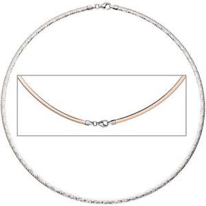 3mm-Wende-Omegareif-Halsreif-Collier-aus-925-Silber-mit-Muster-rotvergoldet-45cm