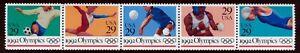 #2641a 29c 1992 Verano Olimpiadas, Se-Tenant Franja, Nuevo Cualquier 5=