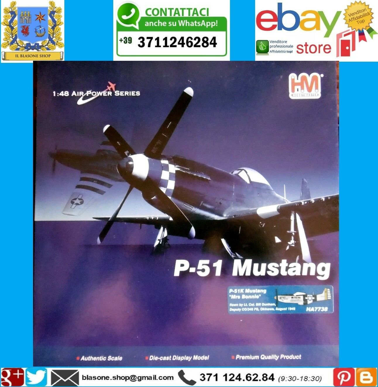 Aereo Caccia P-51 Mustang Okinawa Modellino Scala 1 48 Diecast HM Hobby Master
