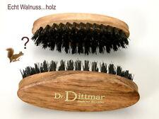 Dr. Dittmar Bartbürste oval Naturborsten WALNUSS-HOLZ Wildschweinborsten Germany