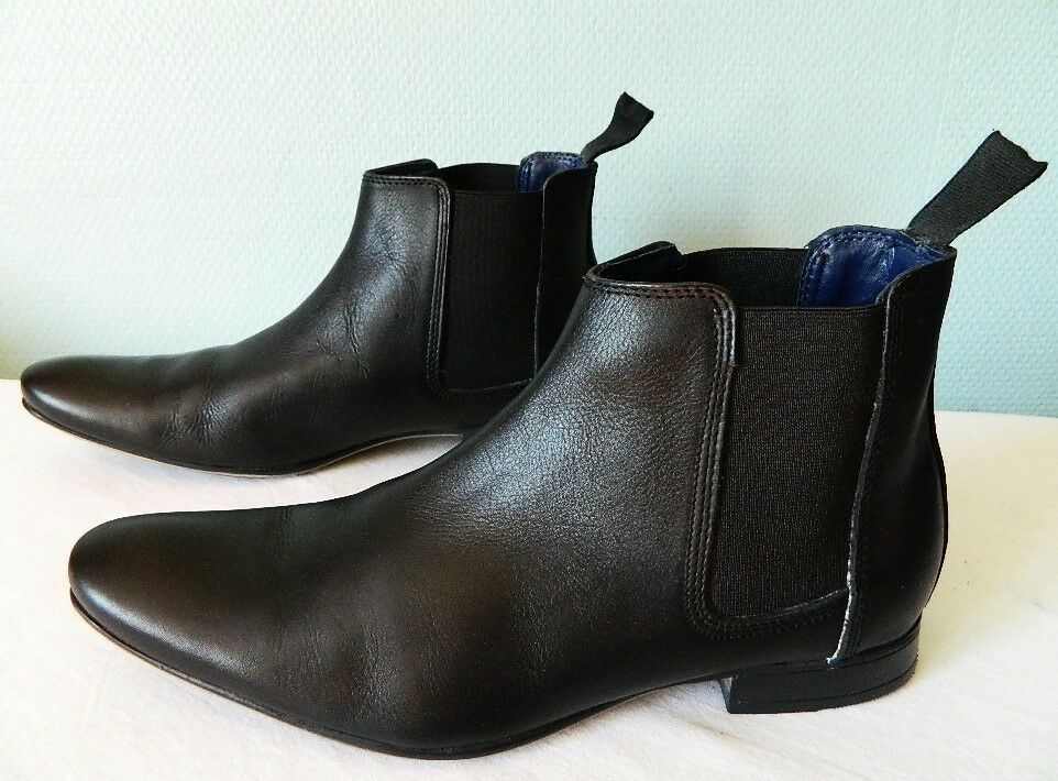 Chaussures Hommes 's boots bottines bottillons CUIR noir FRANK WRIGHT TBE Chelsea 41 TBE WRIGHT 31c4b3