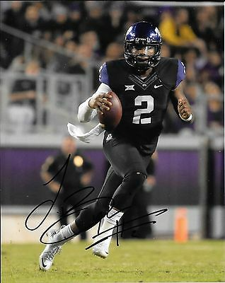 Photos Trevone Boykin Hand Signed Texas Christian Tcu Horned Frogs 8x10 Photo W/coa To Rank First Among Similar Products Autographs-original
