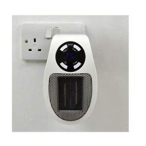 Stay Warm 500w Plugin Wall Power Fan Heater Ceramic PTC Socket Heater