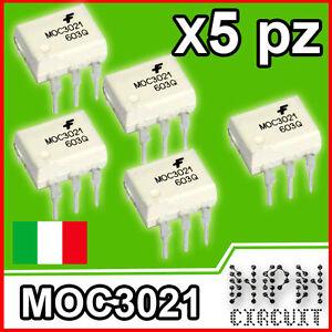 MOC3021 INTEGRATO FOTOACCOPPIATORE FOTOTRIAC TRIAC 400V x5 pezzi