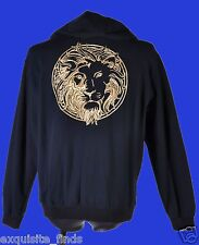 BRAND NEW VERSACE VERSUS STUDDED HOODED ZIPPER PULLOVER JACKET with EMBRODEIRY