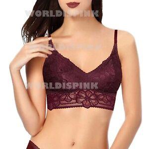 972bfa3d3a509 Victoria s Secret Burgundy Medallion Lace Bralette Push Up Bra S (AA ...