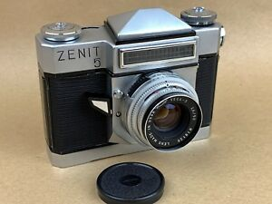 Zenit-5-USSR-Soviet-Russian-Camera-w-50mm-f-2-8-Vega-3-Lens-Very-Clean-amp-Rare