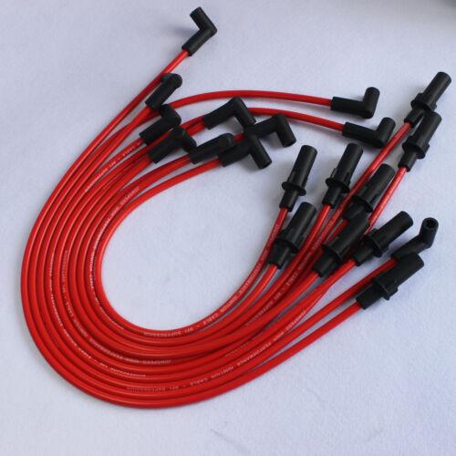 RED JDMSPEED SPARK PLUG WIRES FOR 1990-2003 Dodge 1500 2500 3500 TRUCK VAN