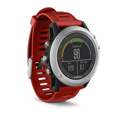 Garmin Fenix 3 Sports GPS Running Activity Monitor Watch - Silver/Red