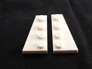 LEGO Lot of 4 Pair of White 4x2 Wedge Plate Pieces