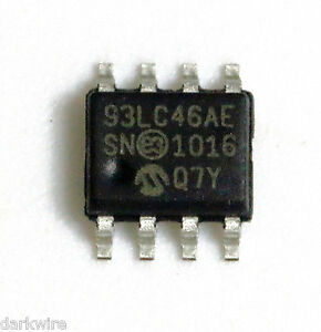 4x-Microchip-93LC46A-E-SN-1K-Microwire-Serial-Eeprom-in-8pin-SOIC-150mil-Package