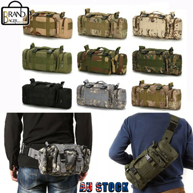 Military Tactical Waist Bag Molle Camping Shoulder Chest Bag Outdoor Fanny Pack