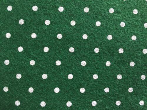 verde oscuro con lunares 2 hojas de fieltro de lana mezcla