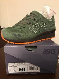sale retailer 2387c c9cb8 Details about DS Ronnie Fieg x Asics MADE IN JAPAN Gel Lyte III GL3 -  Militia size 5 KITH RARE