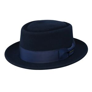 2e6130d2193 Image is loading STETSON-I-CRANSTON-WOOL-FELT-PORK-PIE-HAT-