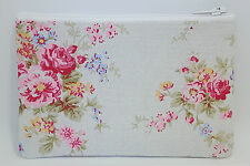 Cath Kidston Washed Roses Fabric Handmade Zippy Coin Purse Storage Pouch