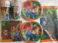 Go Diego Go Wild Animals Rescue - Birthday Party Supply Pack Kit For 16
