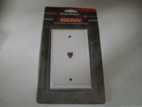 RADIO SHACK 279-204  GOLD-PLATED RJ-11//RJ-14 TELEPHONE  WALL PLATE