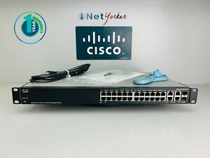 Cisco-SF300-24P-24-Port-PoE-Managed-Gigabit-Switch-1-YEAR-WARRANTY