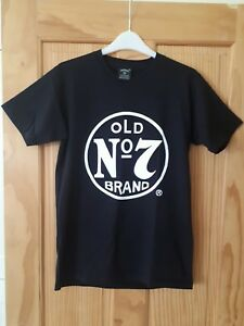 JACK-DANIELS-WHISKEY-Old-NO-7-Brand-Mens-T-Shirt-Tee-Size-small