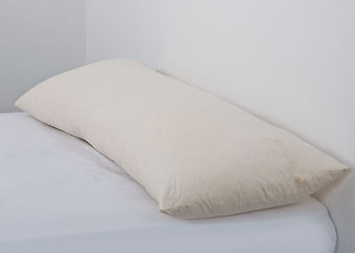 "FREE PAIR CASES 50x152cm BED PILLOW Cotton Feather 5FT BOLSTER 20/""x60/"""