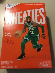 sports shoes 768b9 07f31 Details about NEW`Kyrie Irving Boston Celtics Uncle Drew Harlem Buckets  Wheaties Box Autograph