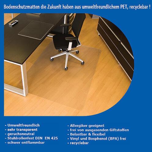Bodenschutzmatte für Bürostühle zum Schutz Ihres Fussbodens Home /& Office ⭐⭐⭐⭐⭐