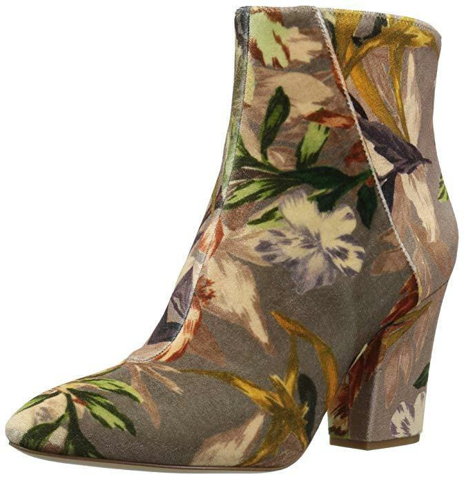 A5146 New Women's Nine West Savitra Taupe Multi Fabric Ankle Booties Size 9 M