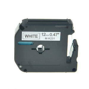 1PK-For-Brother-P-touch-PT-55S-PT-65-12MM-Label-Tape-MK231-M231-Black-on-White