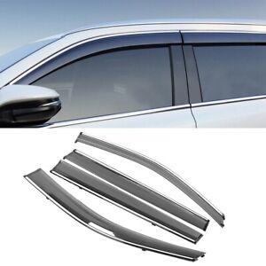 4PCS-Car-Window-Vent-Visor-Rain-Sun-Wind-Guard-Shade-For-Toyota-Highlander-15-19