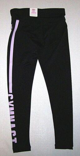 Nwt New Justice Gymnast Leggings Pants Tight Fit Gymnastics Silky Black Girl