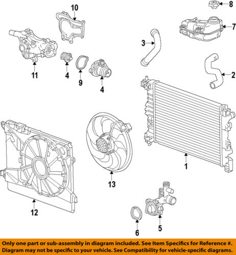 GM OEM Cooling System-Water Outlet 25193922