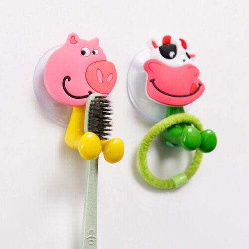 Cartoon Animal Toothbrush Holder Wall Mount Sucker Bathroom Suction Cup A11CA