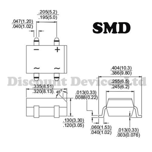 DBS155G SMD Graetz Bridge Rectifier Diodes 1.5A 1000V