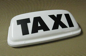 """Taxi Roof Sign Magnetic Top Sign 19"""" White LED lights"""