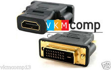 New DVI-D (24 + 1 pin) Dual Link Male to HDMI Female Adapter Converter Coupler