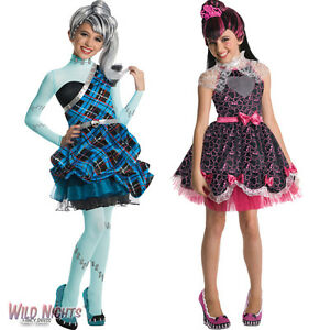 GIRLS-MONSTER-HIGH-DELUXE-SWEET-1600-AGE-5-6-7-8-9-10-FANCY-DRESS-COSTUME-WIG