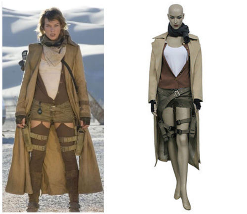 Details about  /Resident Evil Extinction Alice Cosplay Costume Halloween Jacket Shirt Pants
