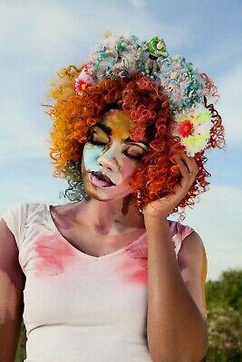 2019 Nuovo Stile Superhero Festival Fiore Pom Pom Corona Copricapo Kawaii Colori Pastello Goth Buzz-mostra Il Titolo Originale