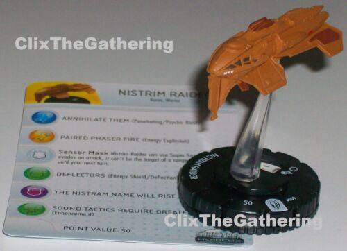 NISTRIM RAIDER #009 Star Trek Tactics 3 III Wizkids HeroClix