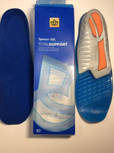 NEW Spenco Gel Total Support Insoles Orthotic Foot Comfort Inserts Running