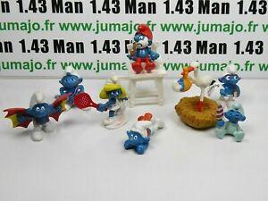LOT1-Figurine-PVC-schleich-7-SCHTROUMPF-smurf-puffi-pituffo