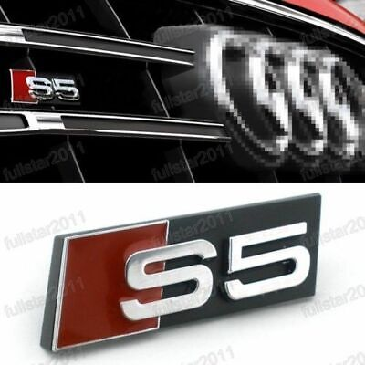 NEW BLACK AUDI S7 GRILL BADGE 3D ABS SLINE Front Racing Grill Grille Emblem